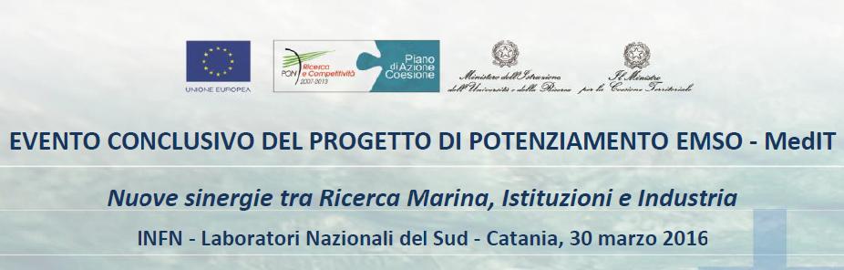 EMSO-MedIT: evento conclusivo del progetto di potenziamento. Nuove sinergie tra Ricerca Marina, Istituzioni e Industria