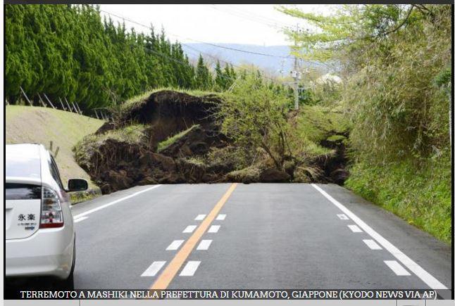 Gli eventi sismici in Giappone e Ecuador