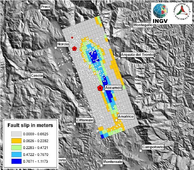 Terremoto, Italia centrale. I rilevamenti satellitari aiutano a individuare le faglie del terremoto – COMUNICATO STAMPA INGV