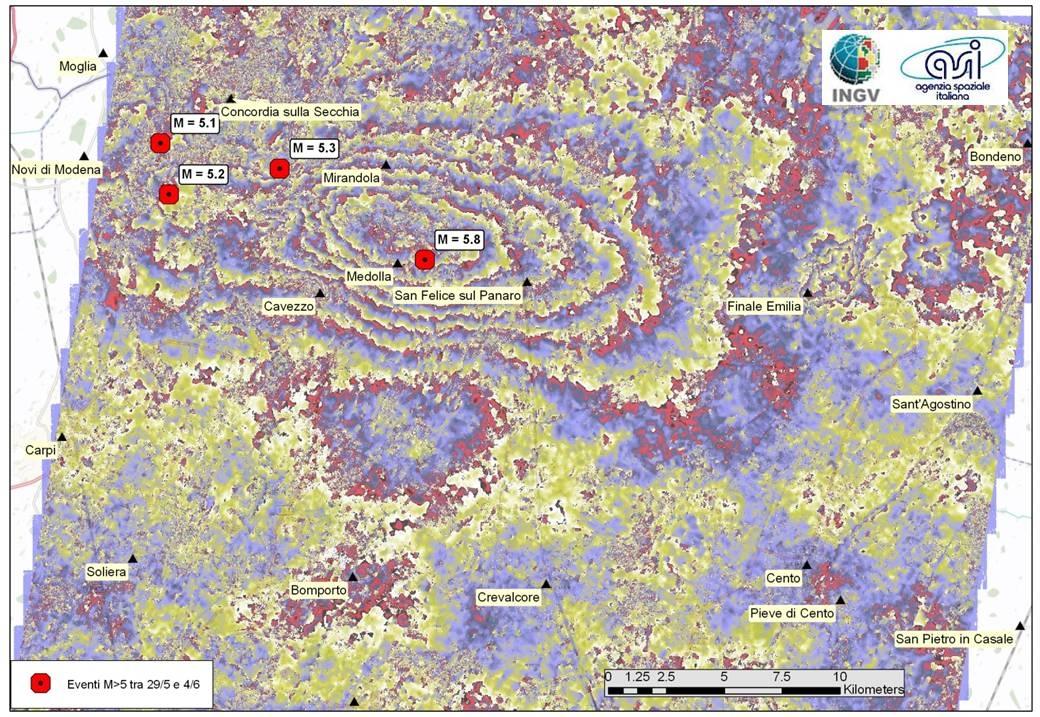L'interferometria SAR,  uno strumento estremamente efficace per lo studio dei terremoti