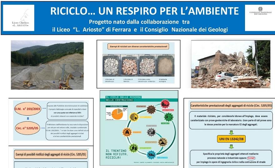 """Il progetto """"Riciclo…un respiro per l'ambiente"""""""