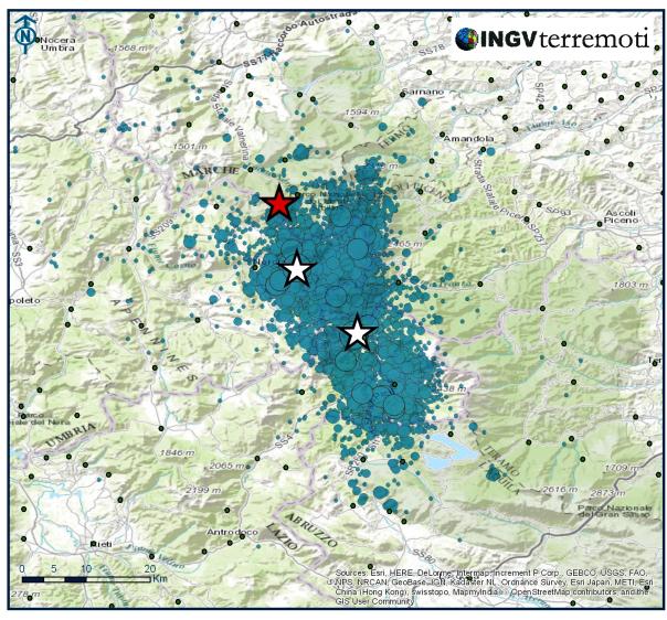 Nuovo evento di magnitudo 5.4 alle ore 19:10