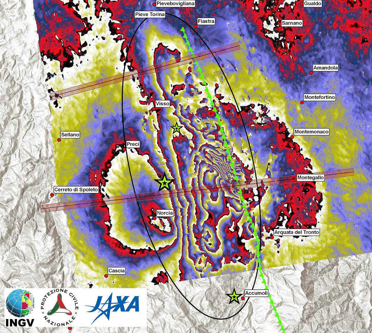 Immagini radar del giapponese ALOS 2: nuovi dettagli sugli effetti del terremoto