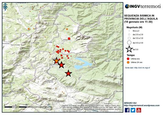 Sisma centro Italia, il comunicato della Commissione Grandi Rischi – Settore Rischio Sismico