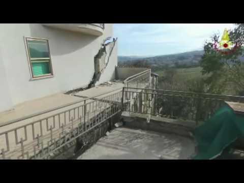 Abruzzo, frana in provincia di Teramo a Ponzano e Castelnuovo – VIDEO VIGILI DEL FUOCO