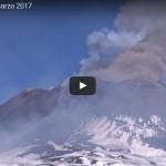 INGV: video attività eruttiva Etna dal Cratere di Sud-Est, 28 febbraio 2017