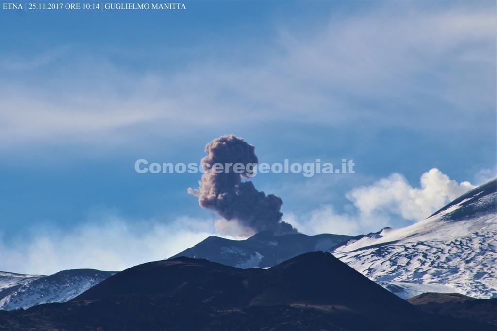Etna, nuova attività esplosiva al Cratere di SE – FOTOGALLERY CONOSCEREGEOLOGIA