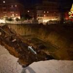 Roma Balduina, si rompe una paratia di pali di contenimento – FOTO E VIDEO dei VVFF