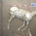 Il calco integro di un equino per la prima volta realizzato a Pompei