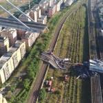 Riprese aeree del ponte Morandi crollato – Video dei Vigili del Fuoco