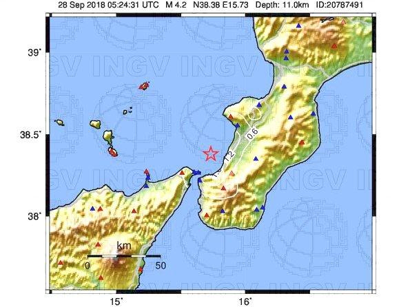 Evento sismico in Calabria