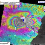 Etna, l'analisi interferometrica dei dati dello sciame sismico
