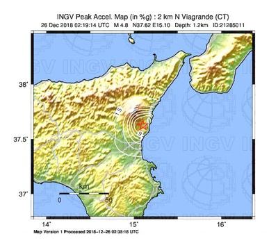 Sciame sismico in area etnea, forte scossa questa notte – VIDEO VVFF