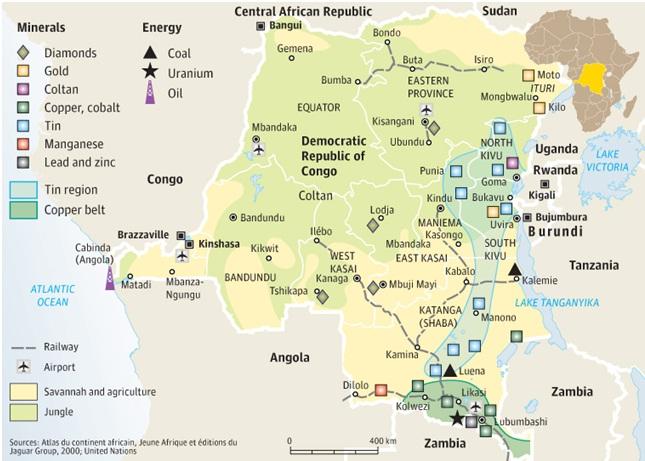 Il Congo: uno scandalo geologico