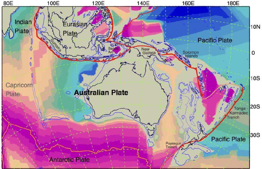 Una sintesi geofisica del continente australiano