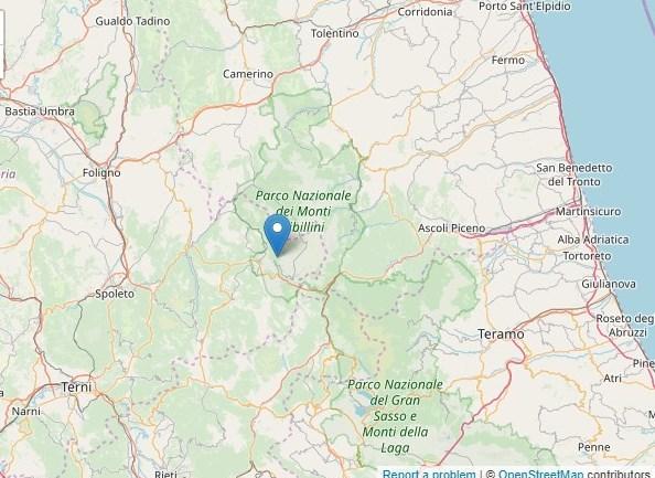 Questa notte nuovo evento sismico nell'area dell'Appennino Centrale