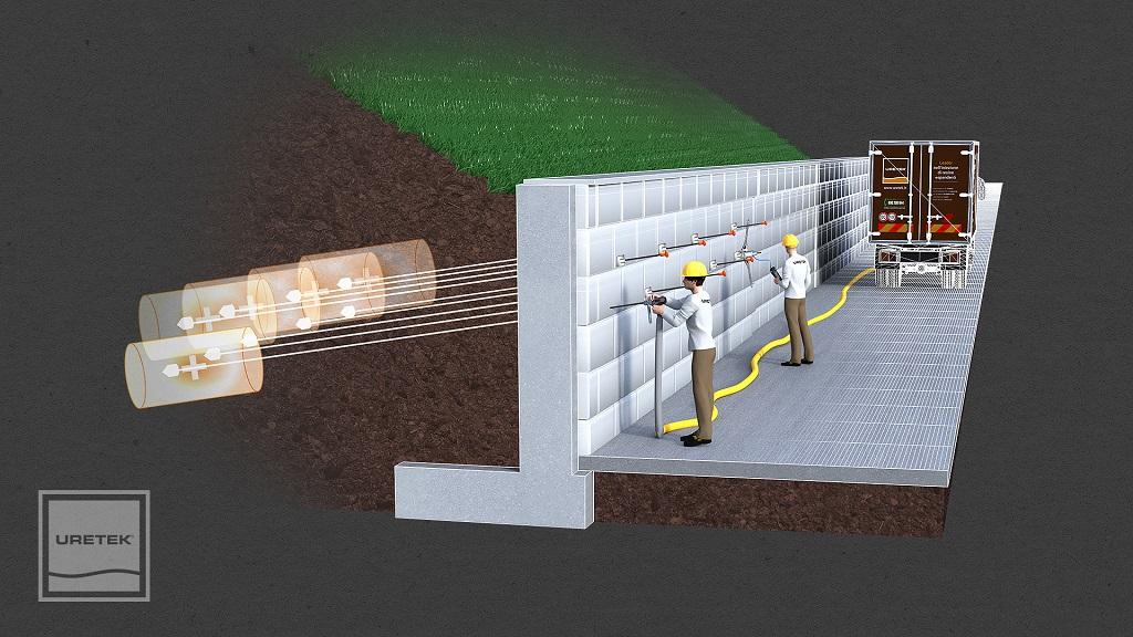 MicroAnchors, la nuova tecnologia per la  stabilizzazione di manufatti controterra
