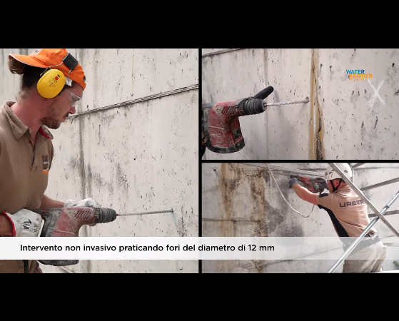 Infiltrazioni d'acqua lungo le pareti? Water Barrier la tiene lontana (VIDEO URETEK)