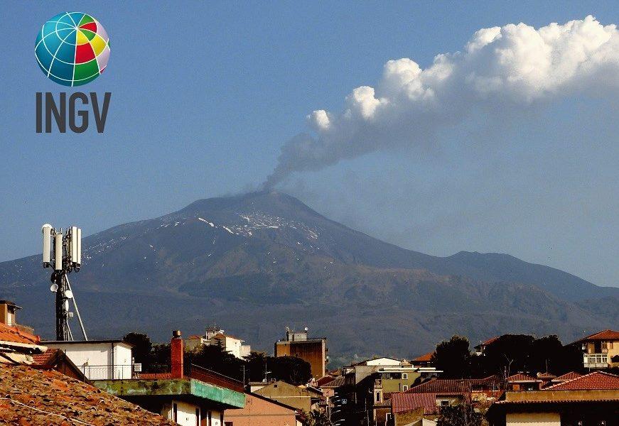 Etna. Attività vulcanica del 19 aprile 2020