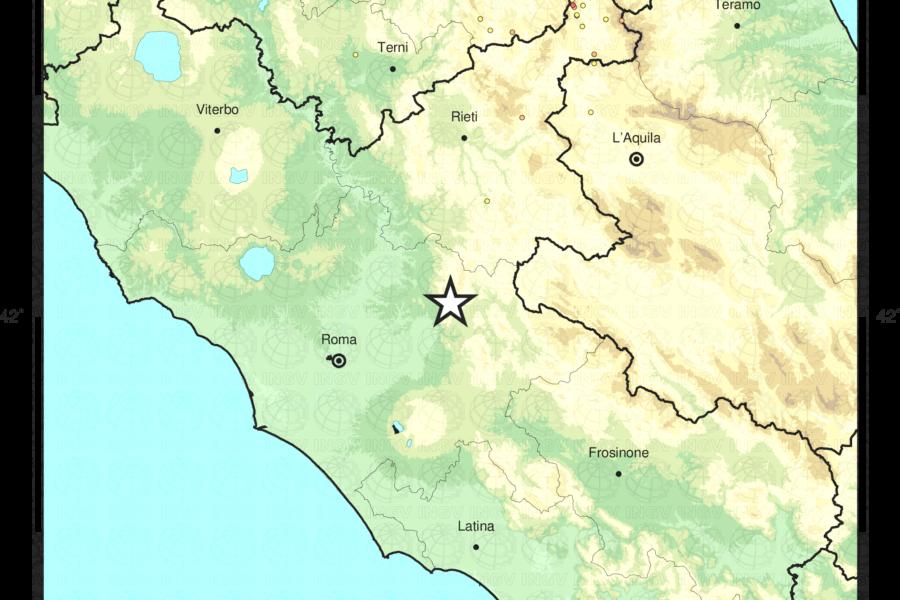 Terremoto di magnitudo ML 3.0 a Marcellina (RM)