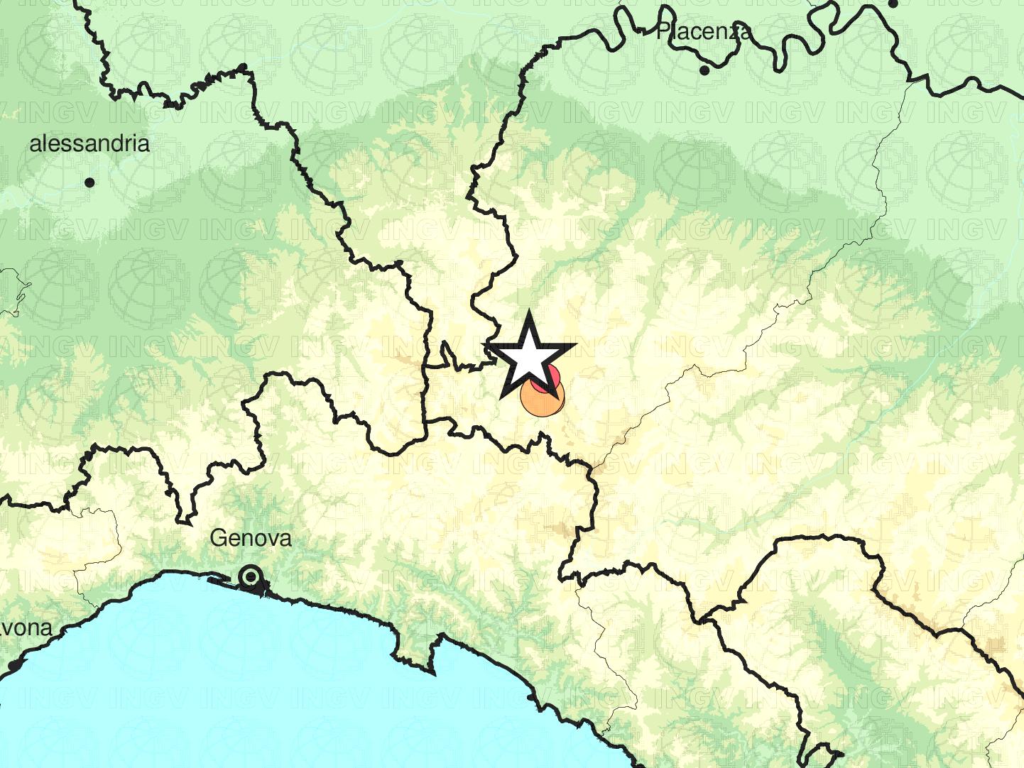 Terremoto di Magnitudo 4.2 in Provincia di Piacenza, altri eventi dopo quello di stamane