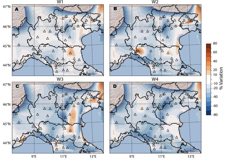 L'effetto del lockdown sul rumore sismico nel Nord Italia