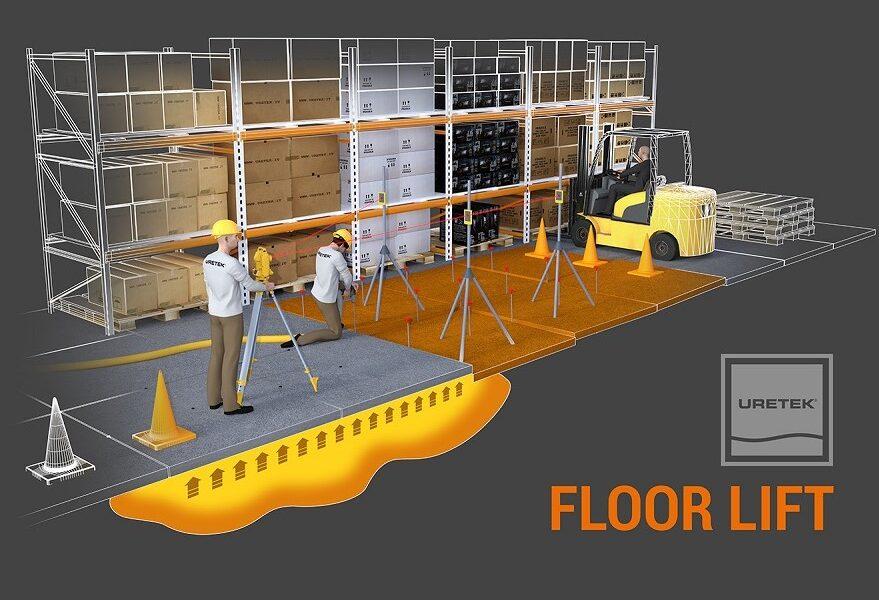 Floor Lift® by URETEK, il sollevamento di precisione e livellamento di pavimentazioni abbassate
