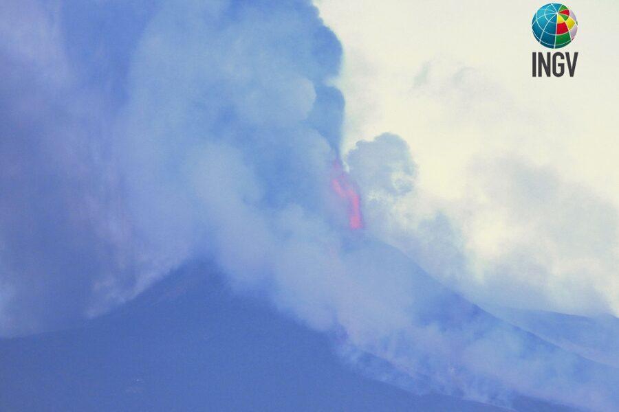 Etna, 19 febbraio 2021. Terzo episodio parossistico in tre giorni.