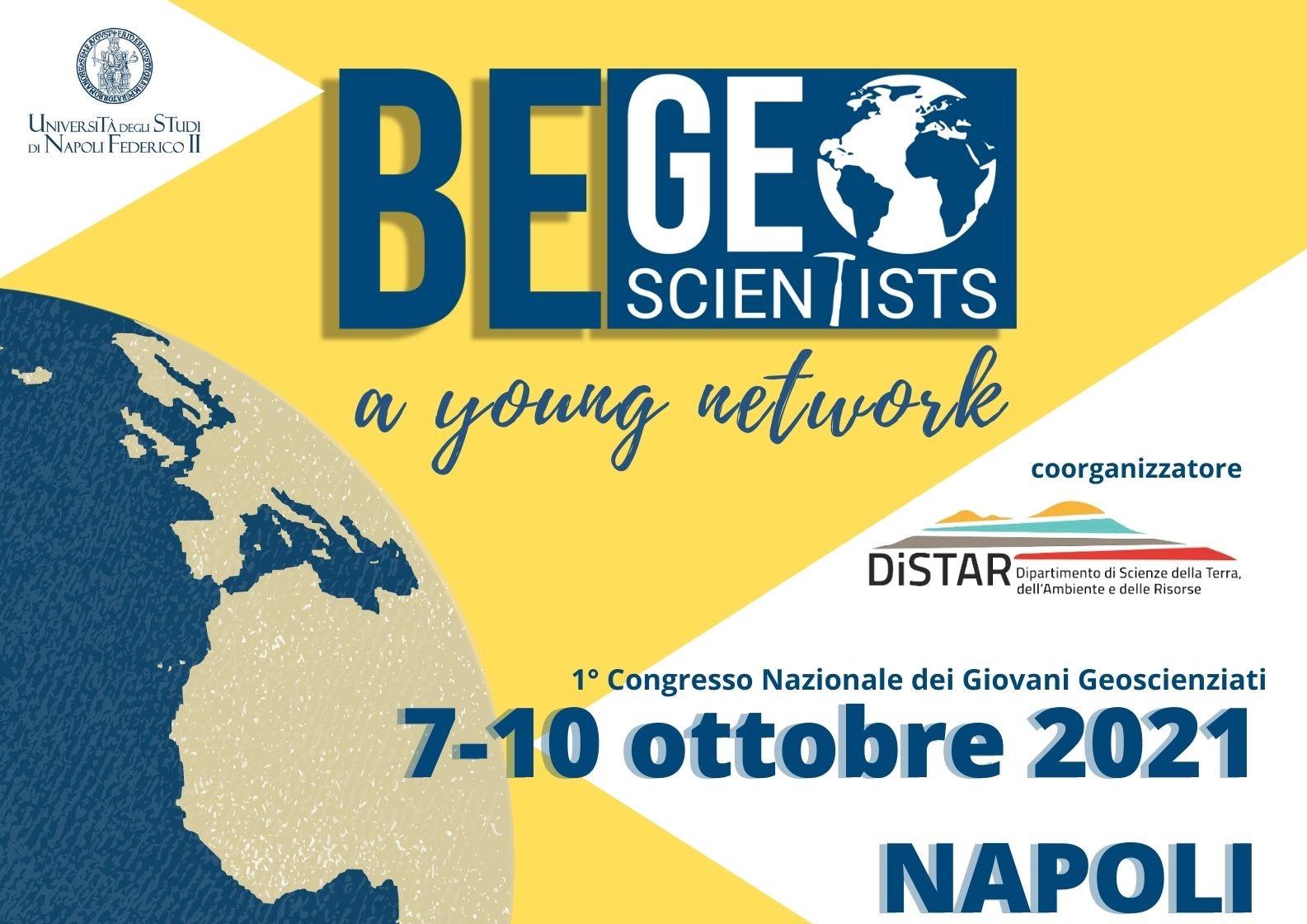 Nasce BE GEO SCIENTISTS 2021, il primo Congresso Nazionale dei Giovani Geoscienziati